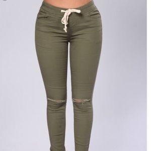 3 PAIRS Linen Skinny Pants from Fashion Nova
